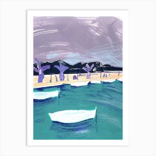 Harbour Art Print