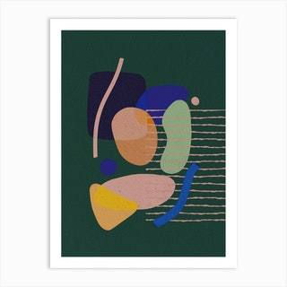 Color Blocks A Art Print