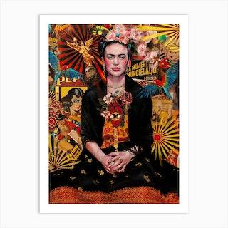 Fiesta De Frida Kahlo Art Print Art Print