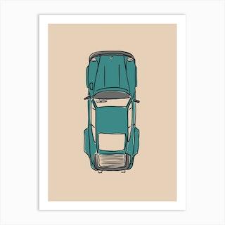 Car 911 Turbo Art Print