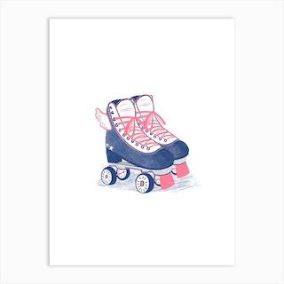 Roller Plades Art Print