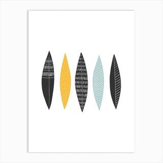 Five Feathers Art Print