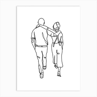 Walking With Friends Art Print
