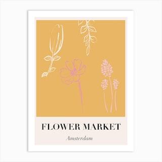 Amsterdam Flower Market Art Print