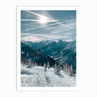 On Top Of The Mountain Iii Art Print