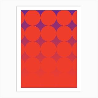 Circling Red Art Print