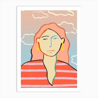 Head In The Clouds 2 Art Print