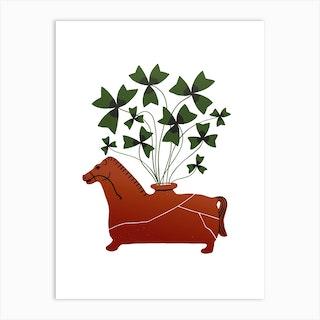 Fiesole Horse Vessel Art Print
