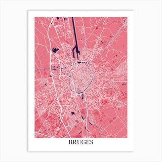 Bruges Pink Purple Art Print
