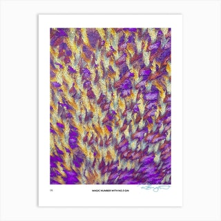 No 3 Perfection Prints Magic Number Art Print