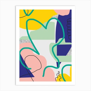 Bold Line Abstract Art Print