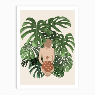 Summer With Plants 2 Art Print
