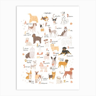 Abc Dogs Art Print