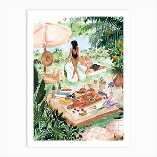 Picnic In The South Of France Art Print