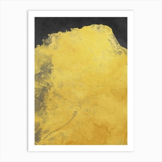 Minimal Landscape Black And Yellow 01 Art Print