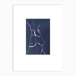 Topless Lady No 2 Art Print