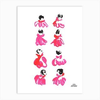 Pink Dresses Art Print
