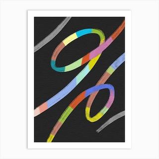 Abstracto Rainbow Art Print