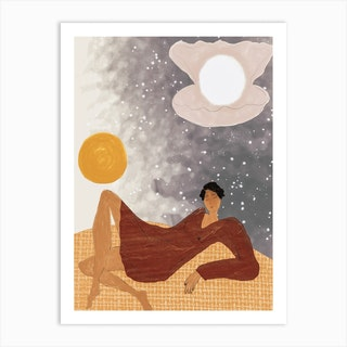 Surfing In The Sky Art Print