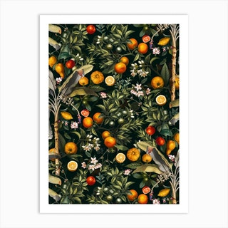 Vintage Fruit Pattern 22 Art Print