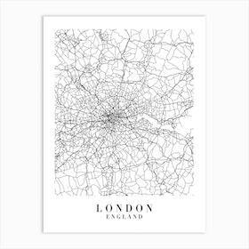 London England Street Map Minimal Art Print