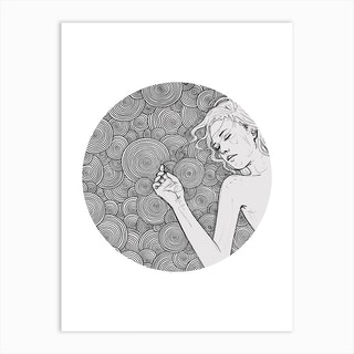 Dreaming Girl 2 Art Print