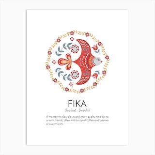 Fika Definition Art Print