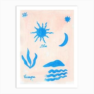 The Blue Escape Art Print