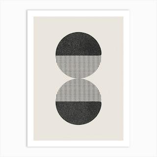 Abstract Circles 18 Art Print