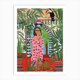 Tiger Queen Art Print
