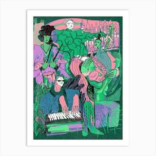 Quartet Pastel Art Print