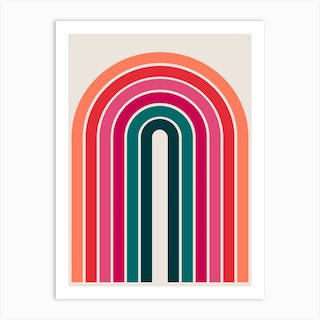 Retro Arches 04 Art Print