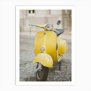 Yellow Vespa Art Print