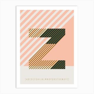 Z Typeface Alphabet Art Print