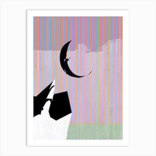 Moon Stripe Art Print