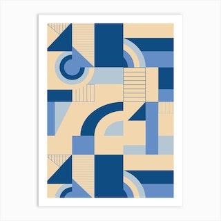 Calming Blocks Art Print