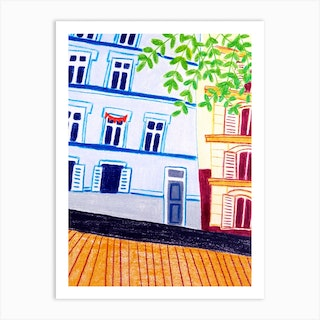 An Uphill Road Or Downhill Art Print