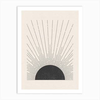 The Sun Blockprint Art Print