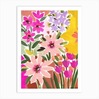 In Bloom Yellow Art Print