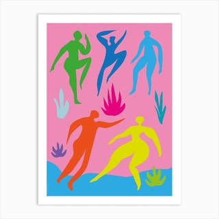 Beach Party Abstract Art Print