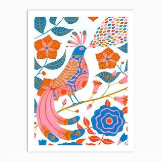 Ornate In Orange Art Print