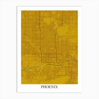 Phoenix Arizona Yellow Blue Art Print