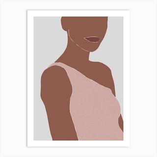Woman Portrait 4 Art Print