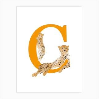 C For Cheetah Art Print