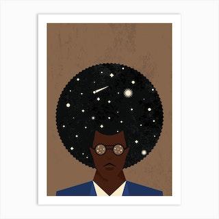 Afro Universe Art Print