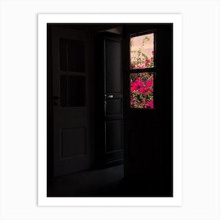 Mykonos Flowers Art Print