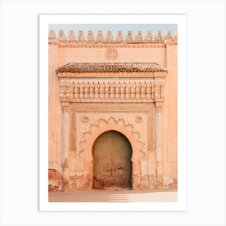Moroccan Grand Door Art Print