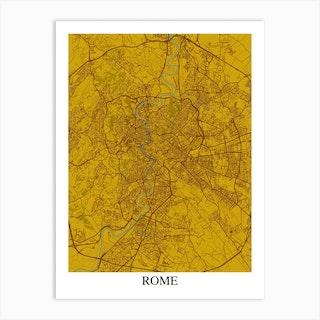 Rome Yellow Blue Art Print
