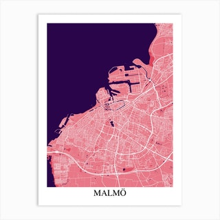 Malmo Pink Purple Art Print