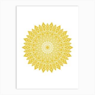 Mustard Mandala 1 Art Print